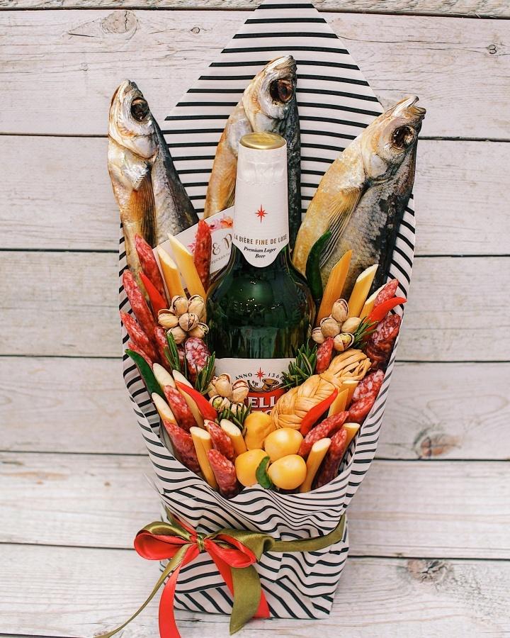 Букет из рыбы и пива