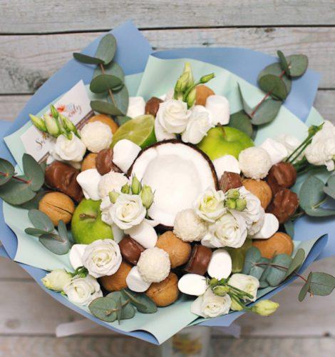 Букет «Баунти» из конфет рафаэлло