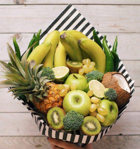 Экзотический букет «Бананы-кокос»